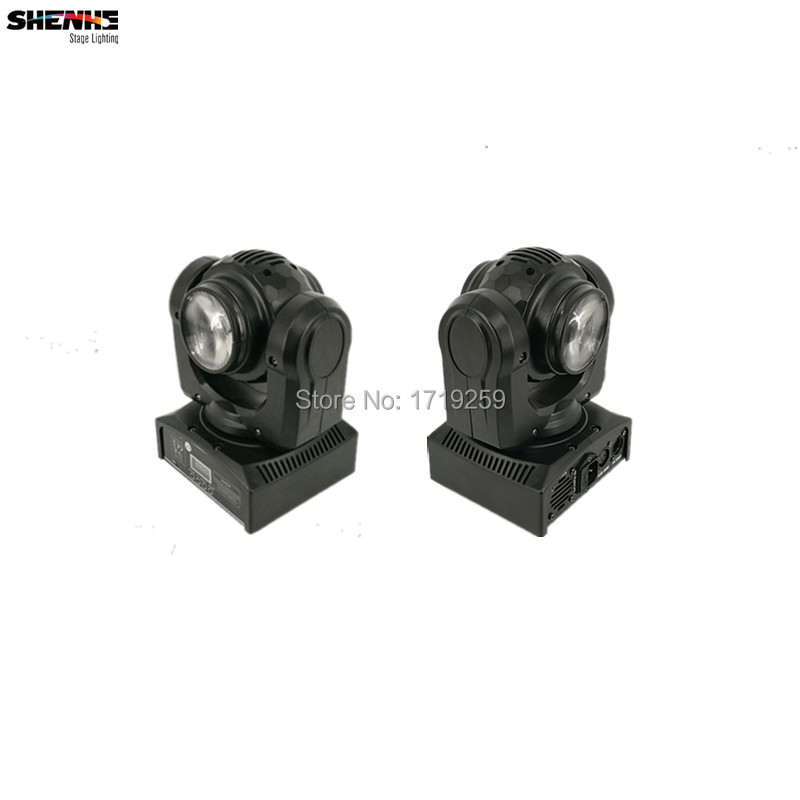 2pcs/lot Beam 2pcsx10W Double Sides RGBW LED Stage Pattern Lamp 15/21 Channel DMX512 Rotating Moving Head for Indoor Disco Party niugul dmx stage light mini 10w led spot moving head light led patterns lamp dj disco lighting 10w led gobo lights chandelier