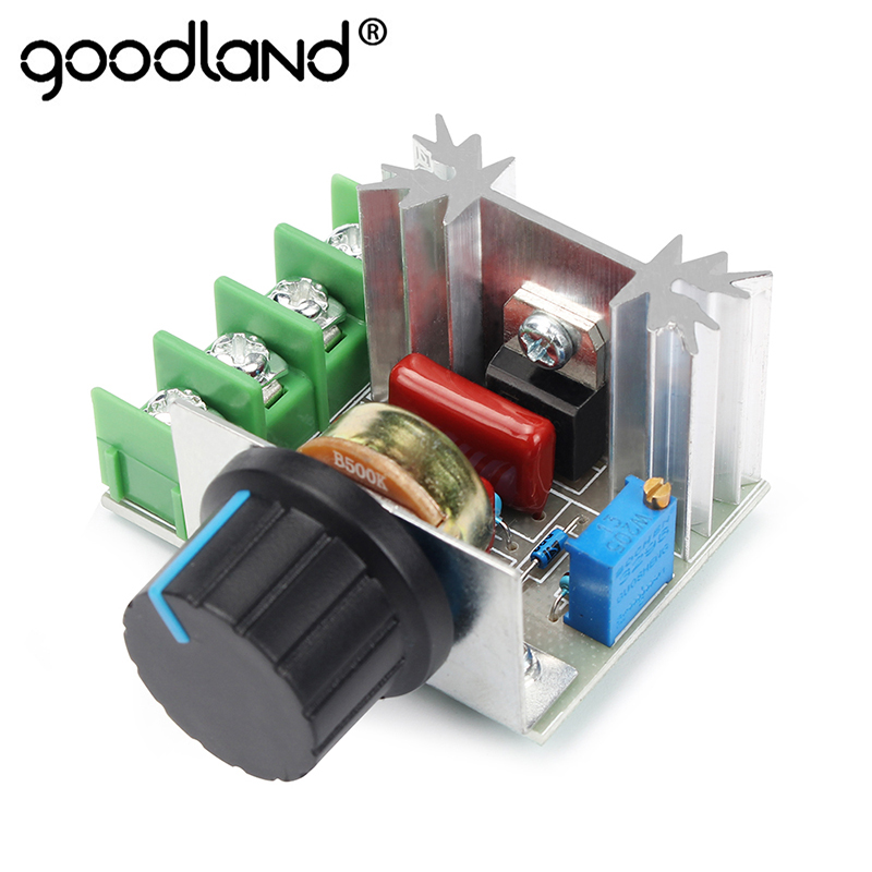 Goodland LED Dimmer Switch 220V Voltage Regulator 2000W Speed Controller SCR Rectifier Thermostat For LED Lamp LED Strip Light