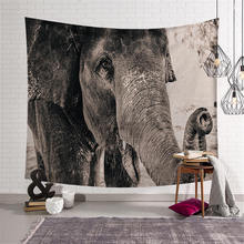 3D Animal Elephant Mural Tapestry Hippie Throw Blanket Wall Hanging Bohemia Mandala Beach Towel Tablecloth Yoga Mat Home Decor