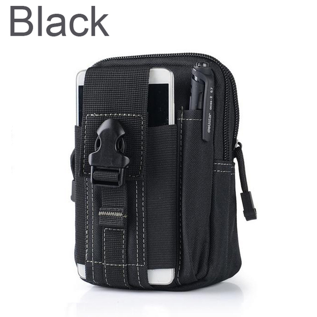 Outdoor Camping Climbing Bag Tactical Military Molle Hip Waist Belt  Wallet Pouch Purse Phone Case for iPhone 7 for Samsung  2