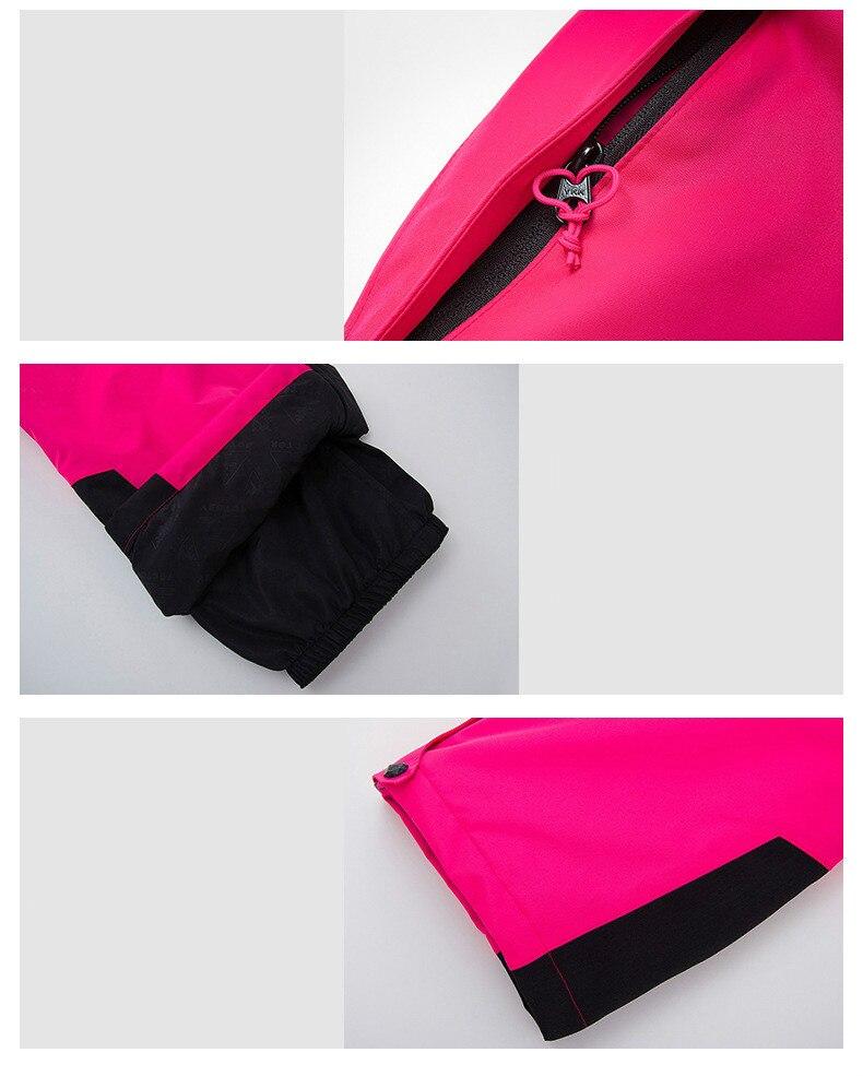 Sports de plein air combinaison de Ski pour femme épaissi chaud respirant imperméable résistant à l'usure séchage rapide veste de ski pantalon de Ski taille S XXL - 5