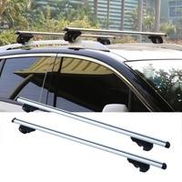 2Pcs/Set High Capacity Car Universal Lockable Aluminum Bars Lightweight Bar Aero Cross Rails Anti Theft Lockable Bars