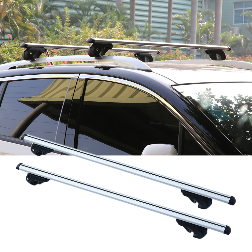 2Pcs/Set High Capacity Car Universal Lockable Aluminum Bars Lightweight Bar Aero Cross Rails Anti Theft Lockable Bars