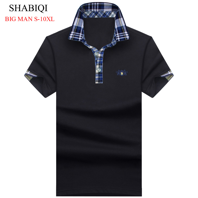 SHABIQI NEW 2019 Men's Brand   Polo   Shirt For Men Designer   Polos   Men Cotton Short Sleeve shirt Brands jerseys Plus Size S-10XL