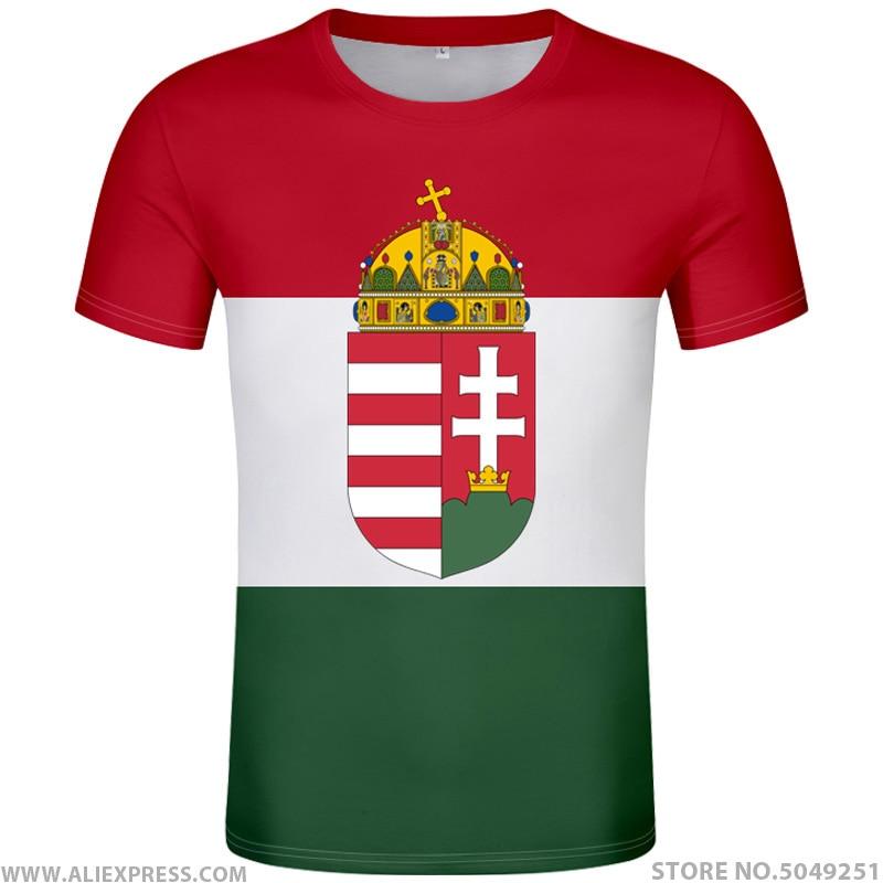 HUNGARY T Shirt Diy Free Custom Made Name Number Hun T-shirt Nation Flag Hu Hungarian Country College Print Photo Logos Clothing