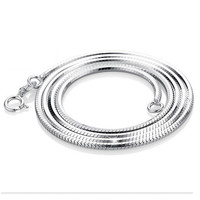 925 Sterling Silver Necklace For Women Silver Chain Necklace Snake Chain Necklace 18 16 Inch