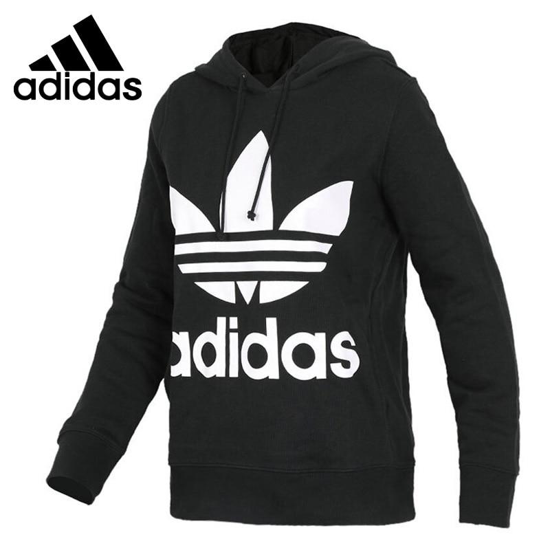 Original New Arrival 2018 Adidas Originals TREFOIL HOODIE Women's Pullover Hoodies Sportswear leopard flame 3d print pullover hoodie