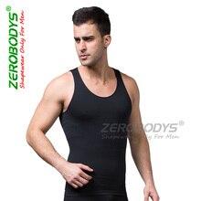 ZEROBODYS New Male Shapers Seamless Abdomen in Strengthen Style Body Building Corset Mens Bodysuit Underwear Black White S-XL