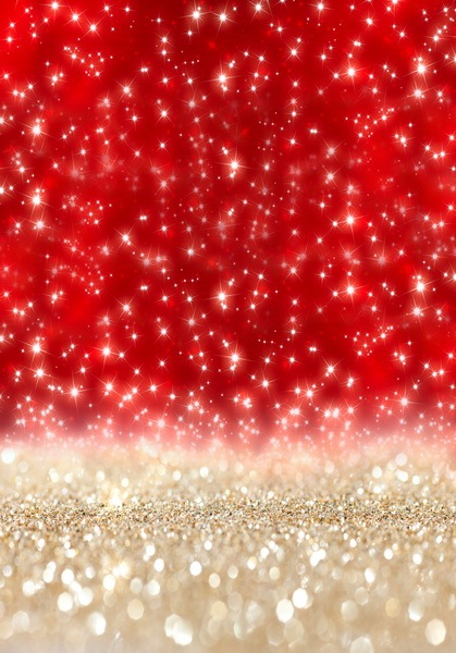 Custom Vinyl Cloth Christmas Red Glitter Boken Photography