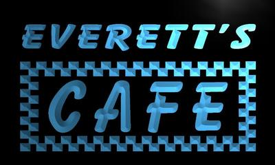 x0261-tm Everetts Caf? Custom Personalized Name Neon Sign Wholesale Dropshipping On/Off Switch 7 Colors DHL