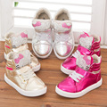 Free Shipping 1pair fashion rhinestone Children sports Sneakers casual cartoon Hello Kitty shoes,comfortable KID Girl Shoes