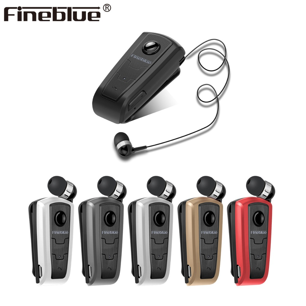 Fineblue F910 Mini Wireless Bluetooth 4.0 neck clip telescopic type business Earphone Vibration Wear Clip Stereo Sport earphone fineblue f v3 mini wireless driver auriculares stereo bluetooth 4 0 headset retractable clip running earphone