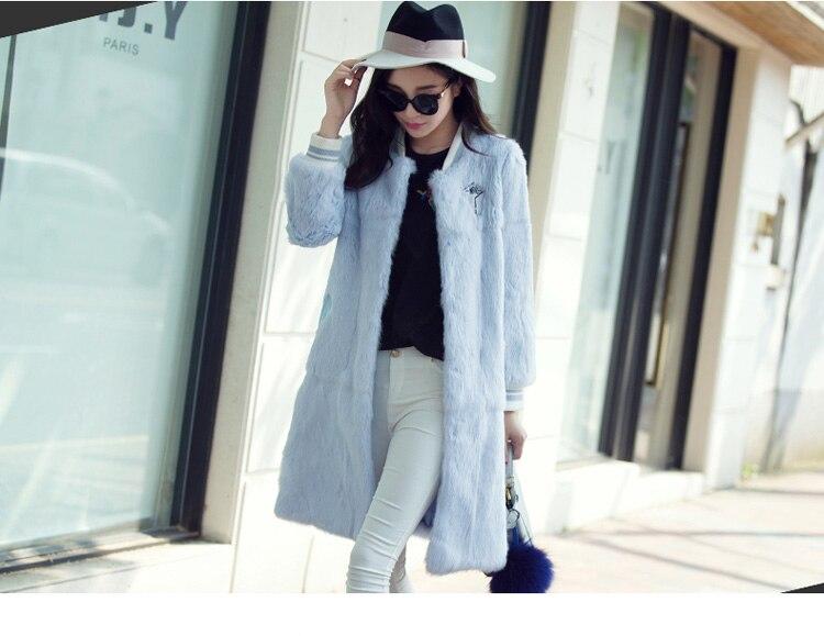 Outwear Réel Manteau Veste De Pleine Normal Fourrure Lapin Véritable Mode Femmes Pelt 100 Uq7wAxA
