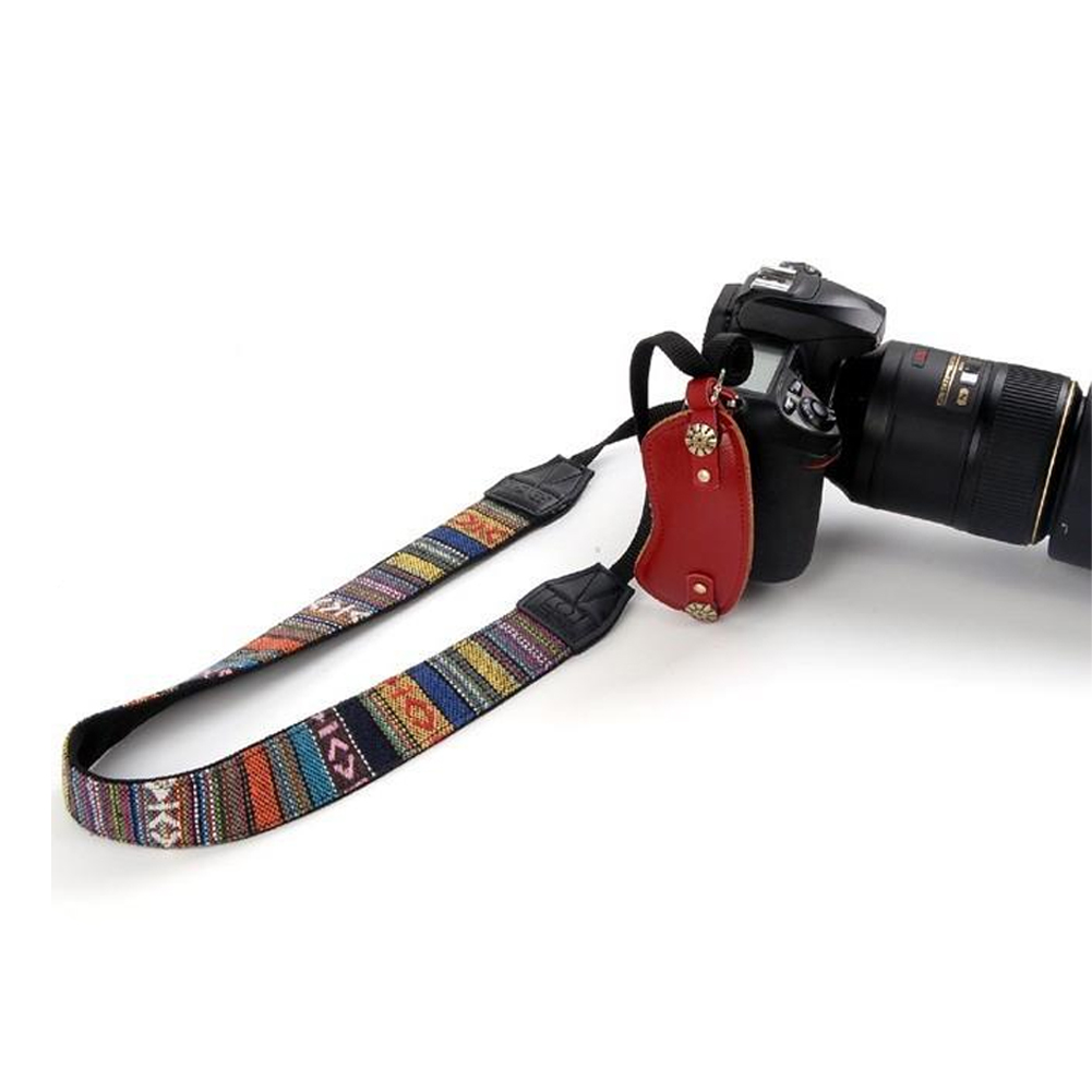 Widened Belt Fashion Replacement For DSLR Adjustable Easy Apply Vintage Camera Strap Ethnic Style Gift Soft Exquisite Carrying