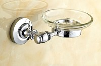 Bathroom Accessory Antique Brass Soap Dish Holder Wall Mounted Holder Glass Cup Wba808