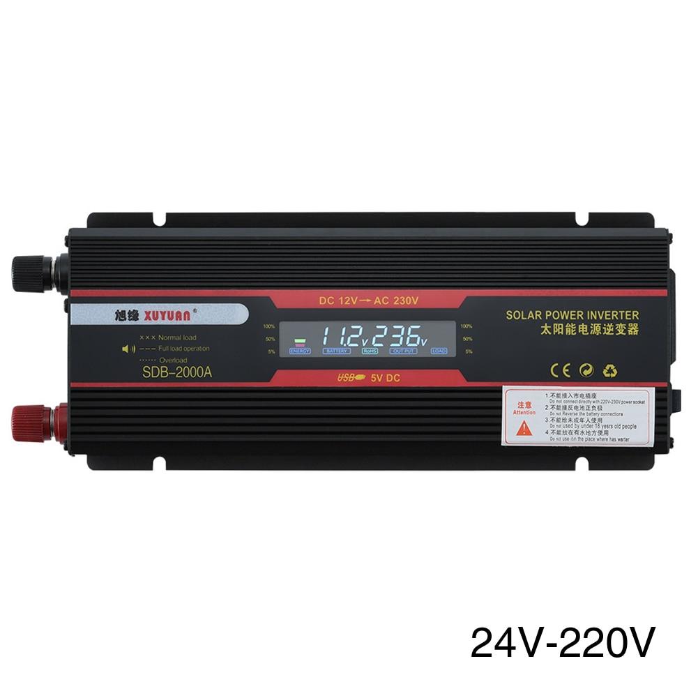 6000W universel prise camions USB convertisseur puissance LCD affichage indicateur lampe transformateur modifié onde sinusoïdale voiture onduleur tension