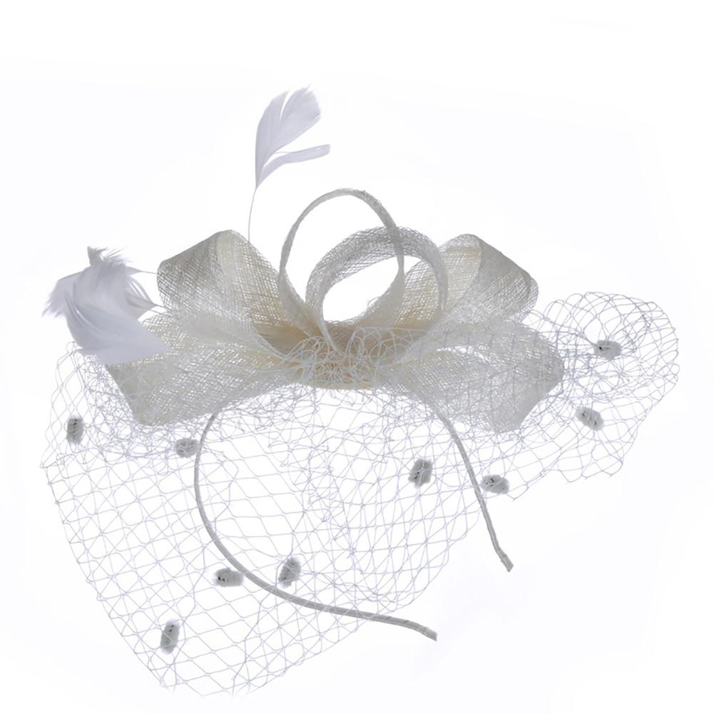 Beige Wedding Accessories Confident European Hair Net Headdress Mysterious Veil Headdress Clip Headwear For Cocktail Party Tea Party Beige 1pc Weddings & Events