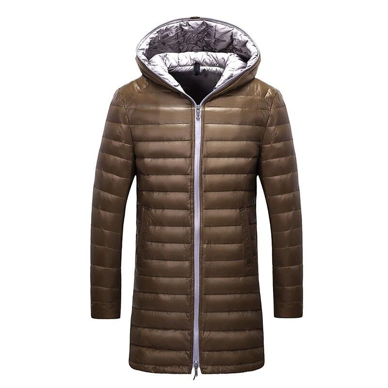 Ultra thin   down   jacket men brand Tace & Shark men's long   down     coat   high quality ultra light duck   down   jacket men doudoune homme