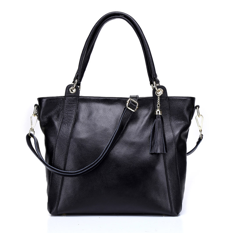 New Designer Genuine Leather Women Handbag Tassel Large Capacity Women Crossbody Bags Soild Color Female Big Tote Messenger Bag women canvas messenger bags female crossbody bags solid shoulder bag fashion casual designer handbag large capacity tote gifts