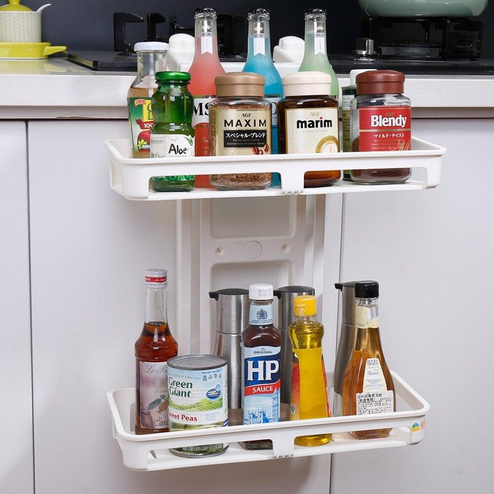 Support de rangement polyvalent étagère ventouse réfrigérateur étagère latérale cuisine organisateur étagère DQ1409-1/-2
