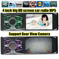 Новая поддержка камера заднего вида 4.0 ''дюймовый TFT экран HD автомобильный радиоприемник плеер USB SD aux in 1080 P радио 1 din автомобильный аудио стерео mp5