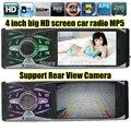 Novo suporte rear view camera de 4.0 ''polegadas TFT HD tela rádio do carro jogador USB SD aux in 1080 P rádio 1 din carro de áudio estéreo mp5