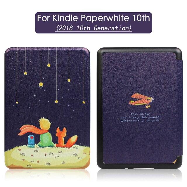 2018 nueva Funda para Amazon Kindle Paperwhite 4 Funda magnética inteligente Funda para Kindle 10 generación PU tableta plegable Folio caso