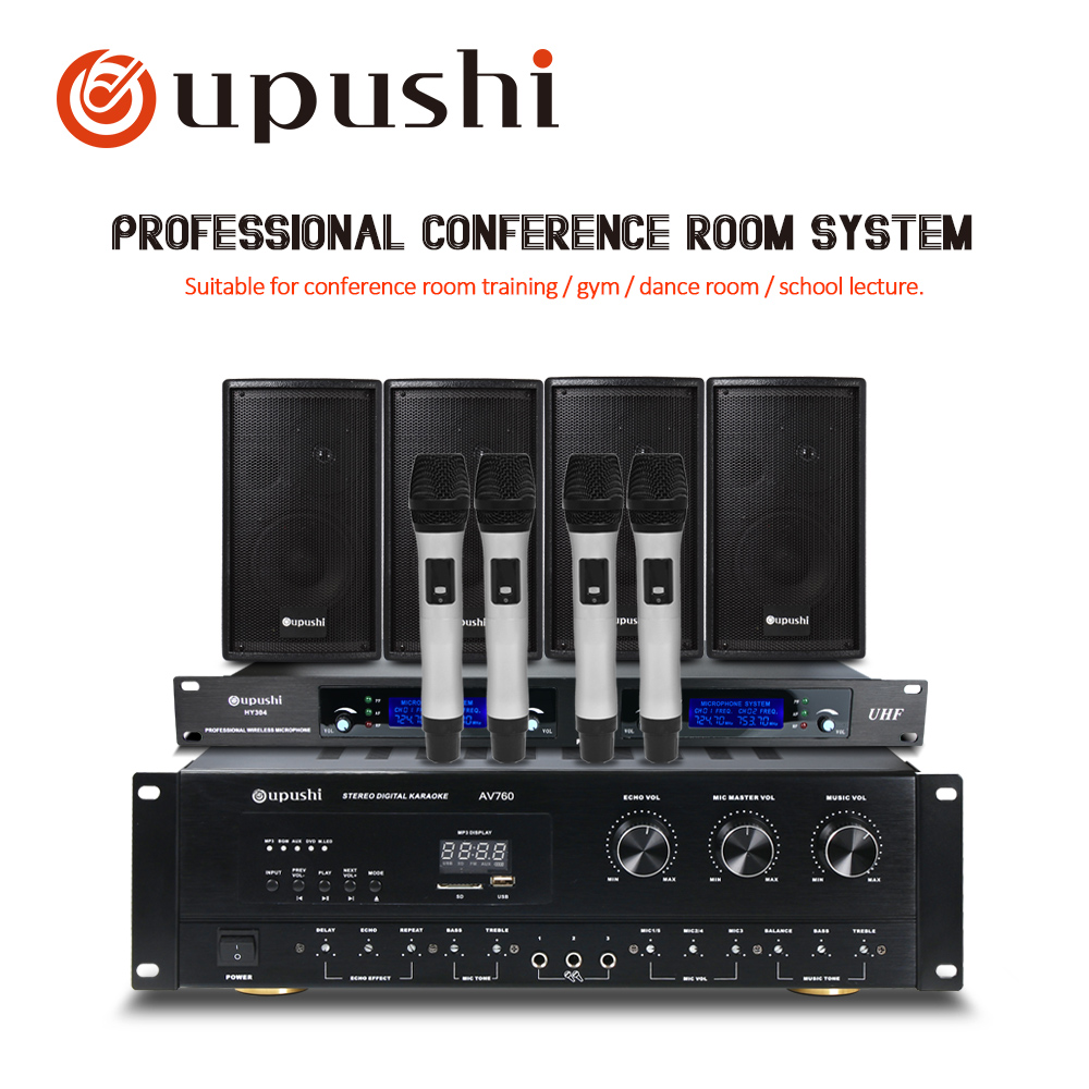 Oupushi Amplifiers with Speakers Professional Home Theater Karaoke Stage Background Music System