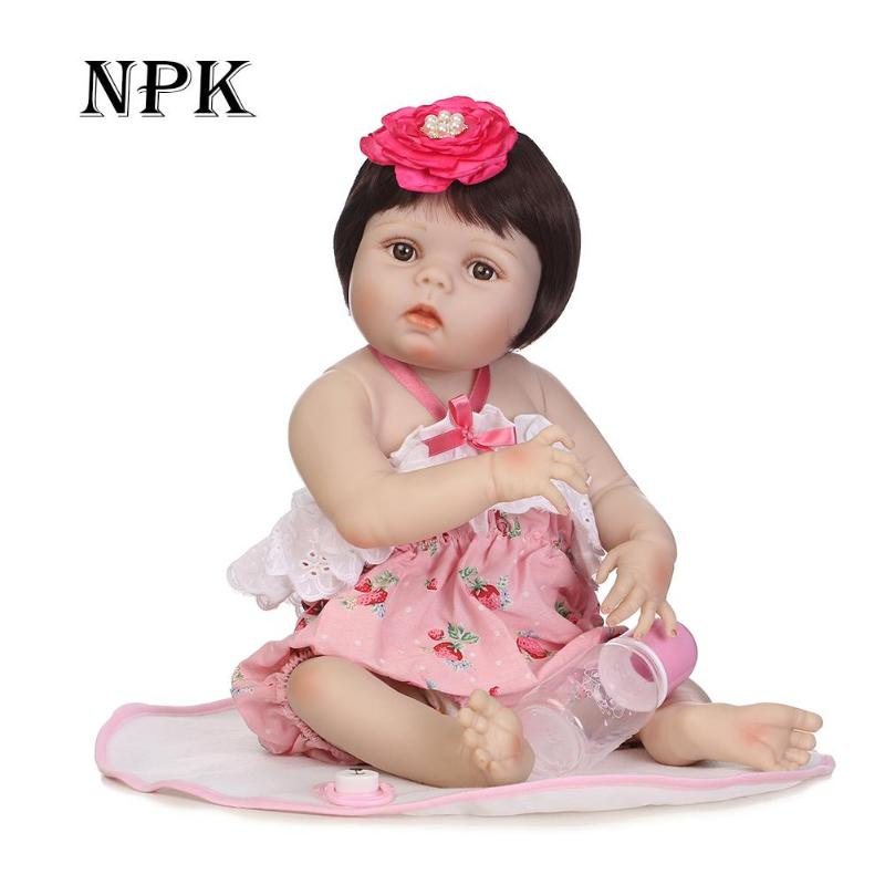 56cm Kids Simulation Reborn Dolls Silicone Reborn Baby Dolls Children Birthday Gifts Soft Lifelike Girls Doll Playing Mate56cm Kids Simulation Reborn Dolls Silicone Reborn Baby Dolls Children Birthday Gifts Soft Lifelike Girls Doll Playing Mate