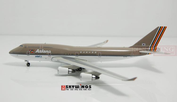Phoenix 10739* B747-400 HL7418 1:400 commercial jetliners Asiana Airlines plane model hobby spike wings xx4502 jc turkey airlines b777 300er san francisco 1 400 commercial jetliners plane model hobby