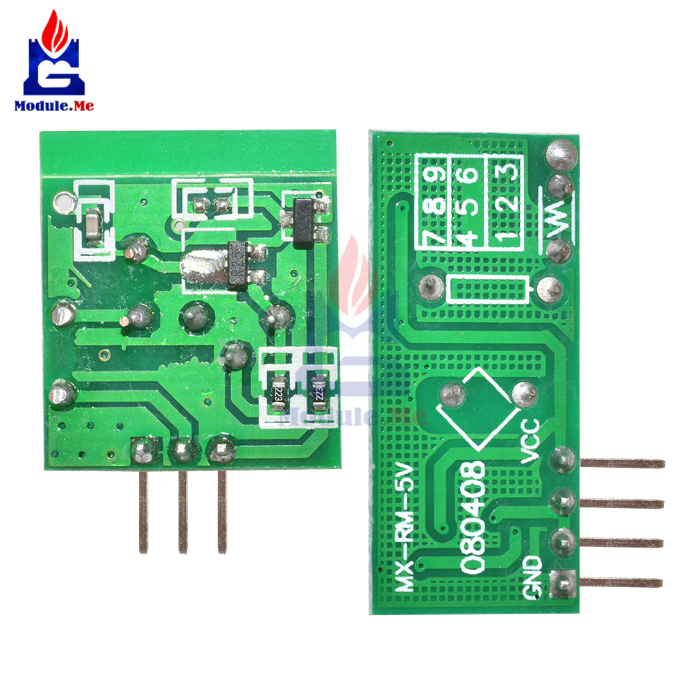 2 Pairs 433mhz Rf Transmitter And Receiver Link Kit For Arduino Arm Circuit Mcu Dc 5v External Antenna Am Mode Vcc Voltage Module In Integrated Circuits From