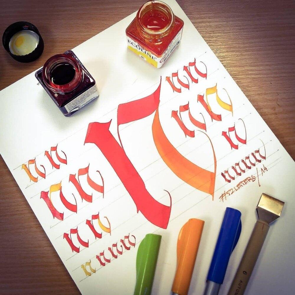 JIANWU japan pliot Art font parallel fountain pen Art creation painting Font design scrapbook DIY student School supplie baoke pop pen student art advertisement mark pen art design poster pen