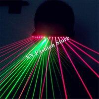 T91 Red laser light glasses disco green laser dj glasses ballroom dance laser costumes laser man show colorful disco projector