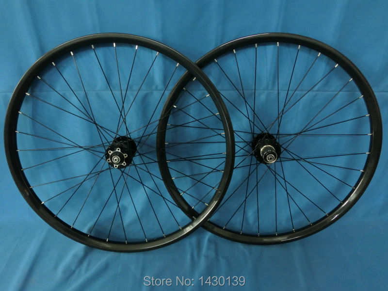 New 27.5 Mountain bike clincher rim 3K full carbon wheelset disc brake 27.5 inch carbon bicycle wheelset 27.5er MTB bike parts mountain bike four perlin disc hubs 32 holes high quality lightweight flexible rotation bicycle hubs bzh002