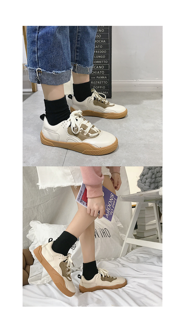 2019 Women Sneakers Leather Hook Loop All Match Female Casual Shoes Concise Style Lady White Shoes Students New Fashion 35-39 28