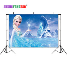 SHENGYONGBAO Frozen theme Vinyl Custom Photography Backdrops Prop Muslin Background BXC-1015