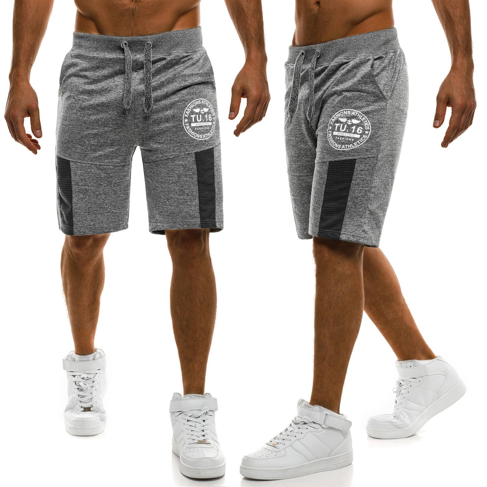 ZOGAA Men Shorts Sweatpants Fitness Knee-Length Jogging Casual Fashion New 3-Color Loose