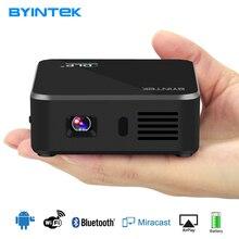 Byintek D9 Портативный карман Smart Android USB Video Wi-Fi LED 1080 P DLP мини телефон HD проектор proyector для смартфонов iphone