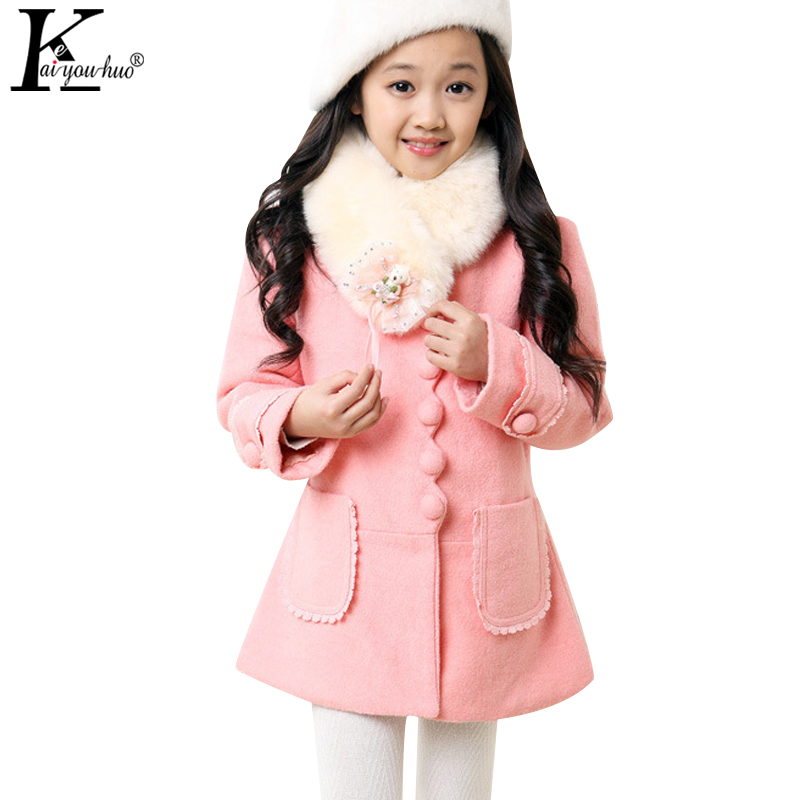 KEAIYOUHUO Winter Girls Jackets Coats For Kids Warm Baby Coats Children Clothing Hooded Cotton-padded Clothes Jackets For Girls kamiwa 2018 cotton padded girls winter coats and jackets hooded thick long kids outwear warm clothes parkas baby girls clothing