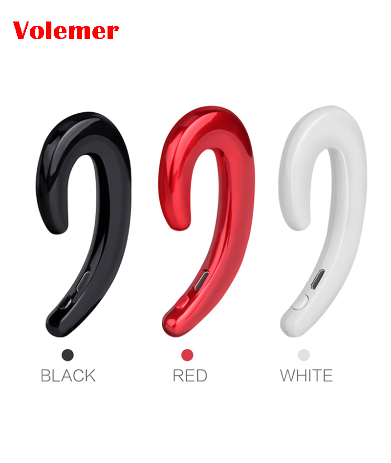 Volemer Mini Ear hook Bluetooth Earbuds with Mic Wireless headphones Handsfree Bone Conduction New technology for iPhone Xiaomi