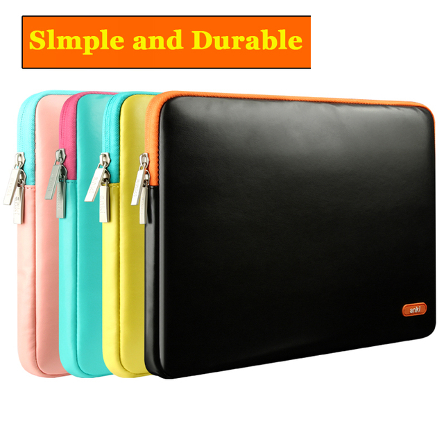 Imitation Leather Laptop Sleeve 15 12 Computer Bag Laptop Bags For Lenovo For Apple macbook air pro13.3/12/11inch Case Portable