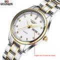 Marca GUANQIN relógios das mulheres relógio de quartzo das mulheres relógio de quartzo-cristal montre femme relogio feminino clássico de negócios do vintage