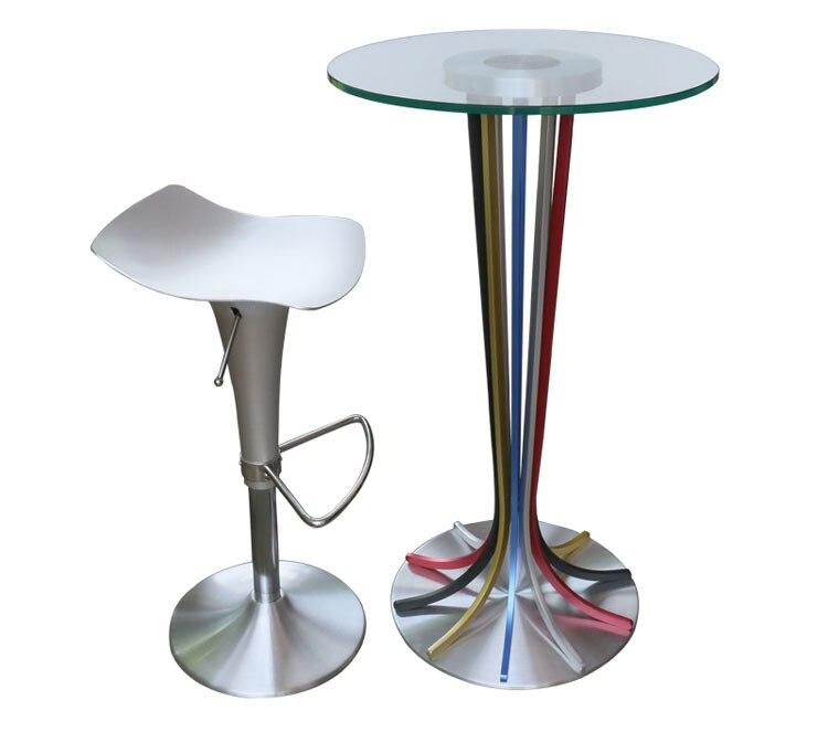 Western European fashion coffee stool aluminum alloy seat nightclub chair free shipping art aesthetics bar rotating chair creative inspiration coffee stool artist director movie seat free shipping