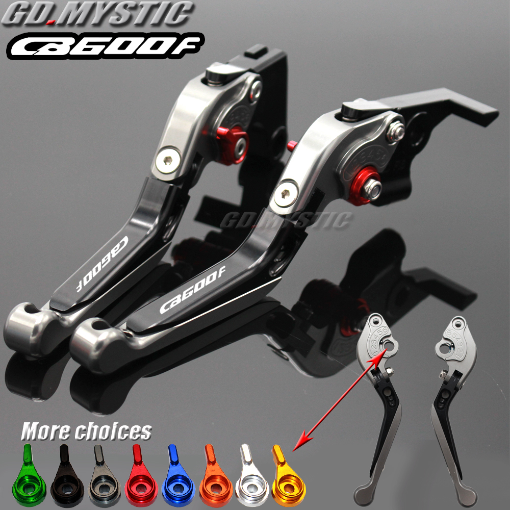 Motorcycle Folding Extendable CNC Moto Adjustable Clutch Brake Levers For <font><b>Honda</b></font> CB600F CB <font><b>600</b></font> F <font><b>Hornet</b></font> 2007-2013 2008 <font><b>2009</b></font> image
