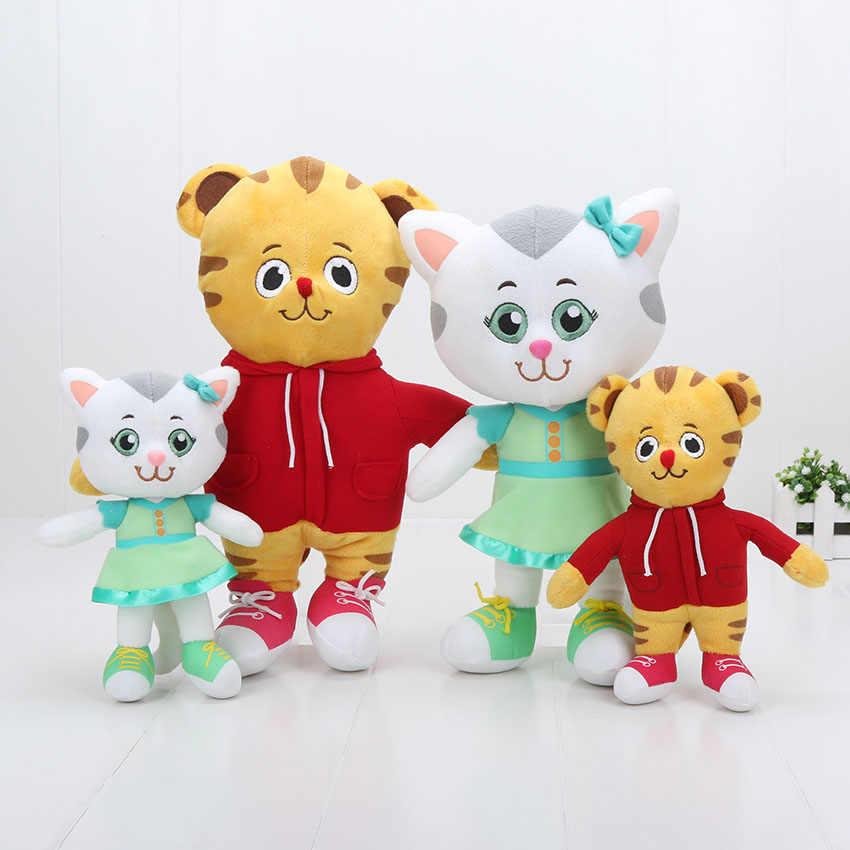 2pcs/lot Cartoon Daniel Tiger's Neighborhood Tiger Katerina Cat Friends Plush Doll Tiger Soft Stuffrd Toys kids toys