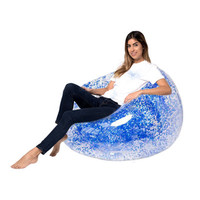 Buy Fast Folding Inflatable Lazy Bean Bag Sleeping Air Sofa Lounger for Room Waterproof Inflatable Chair air bed Sleeping Bag