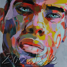 Palette knife painting portrait Palette knife Face Oil painting Impasto figure on canvas Hand painted Francoise Nielly 14