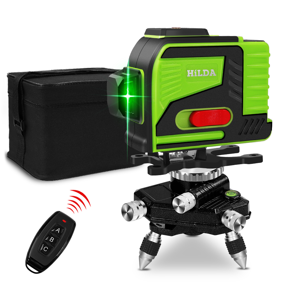 Laser Level 12 Lines 3D Level Self-Leveling 360 Horizontal And Vertical Cross Super Powerful Green Laser Beam Line