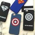 Caso maravilha-capitão américa superman caso de telefone para o iphone 6 6 s 6 plus magro matte plástico de volta caso capa