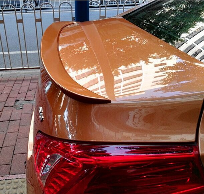 Car Styling For Peugeo 508 Spoiler 2011 2012 2013 2014 2015 ABS Plastic Unpainted Primer Tail Trunk Wing Rear Spoiler Decoration